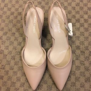 NWT Marc fisher leather heeled shoes